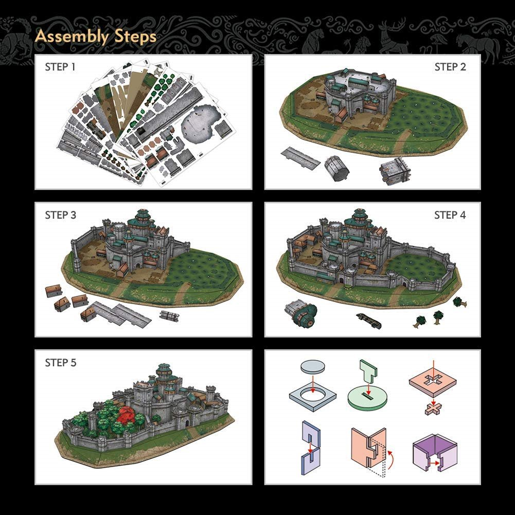 Game of Thrones 3D puzzle Winterfell 430 dielikov_product