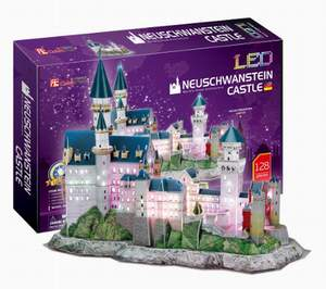 Neuschwanstein Castle - 3D Puzzle - LED