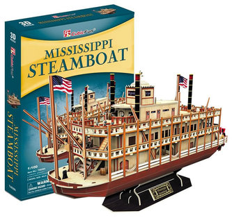 Parník Mississippi Steamboat - 3D puzzle