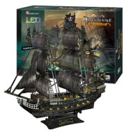 Pirátska loď - The Queen Anne's Revenge LED 3D puzzle